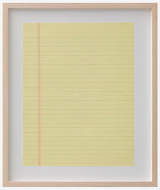 """Forbidden Thought Projected Onto Ampad, 8.5 x 11.75"""", Letter Size Professional Legal, Wide Ruled, Canary Paper 2010"""
